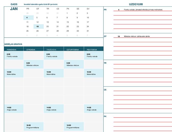 Skolēnu kalendārs (Mēn.)