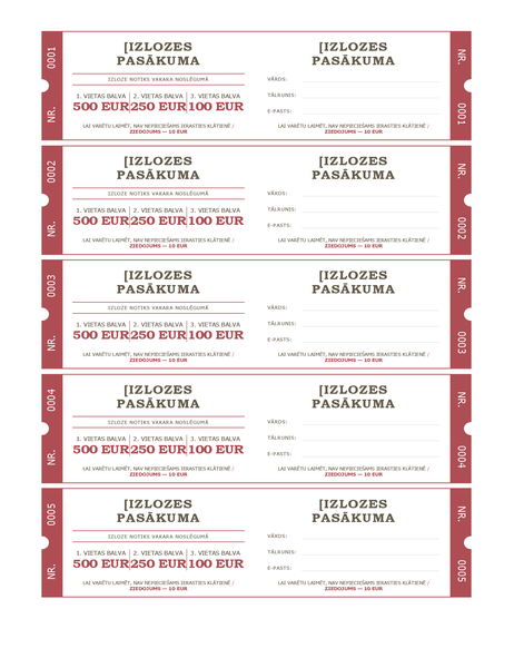 Loterijas biļetes