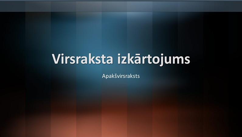 Vertikāla leksikona noformējuma slaidi