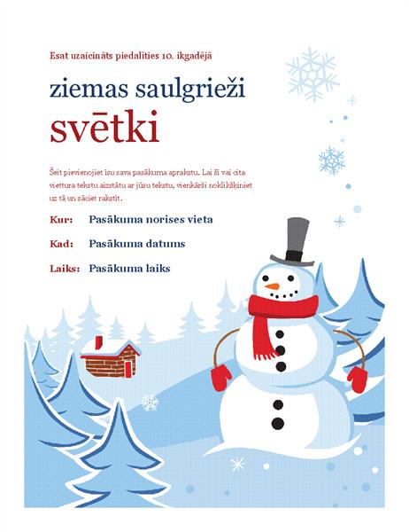 Ziemas ballītes skrejlapa