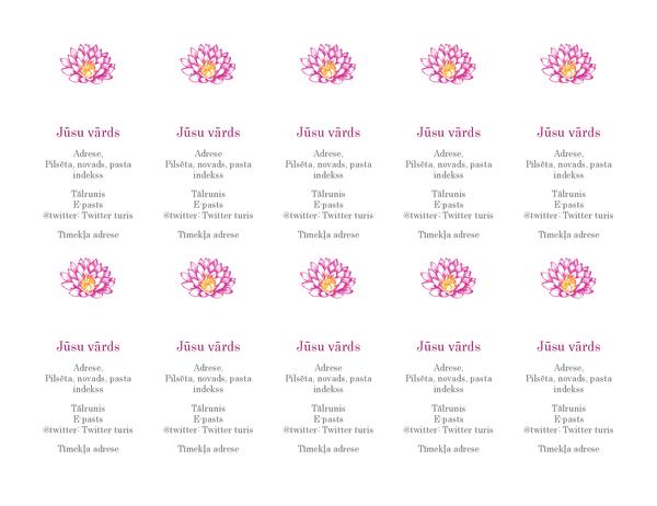 Personiskas vizītkartes ar ziediem (vertikālas)