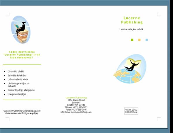 Darbavietas reklāmas brošūra