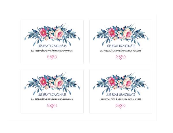 Uzaicinājums uz ballīti (ziedu dizains)