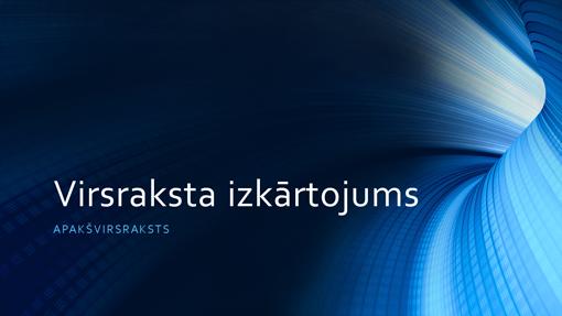 Biznesa digitāla zila tuneļa prezentācija (platekrāna)