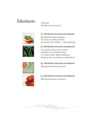 Restorāna ēdienkarte