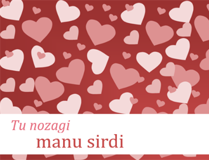 Valentīna dienas kartītes