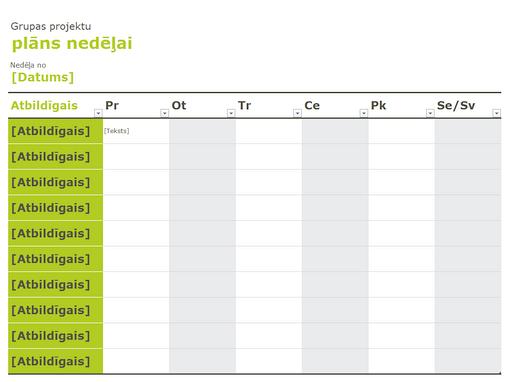 Grupas kalendārs