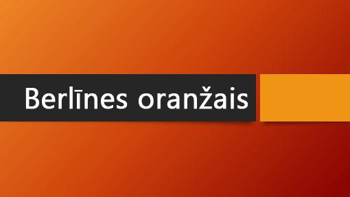Berlīnes oranžais