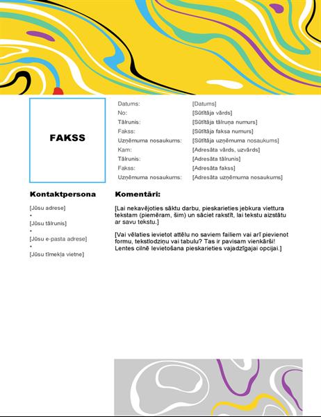 Virpuļkrāsas faksa titullapa