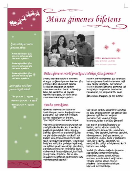 Svētku biļetens (ar Ziemassvētku vecīša ragavām un ziemeļbriedi)