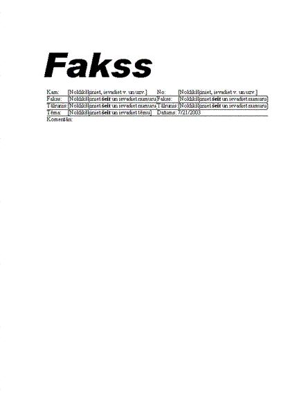 Standarta fakss