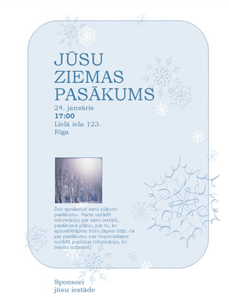 Invitation pour votre événement cet hiver