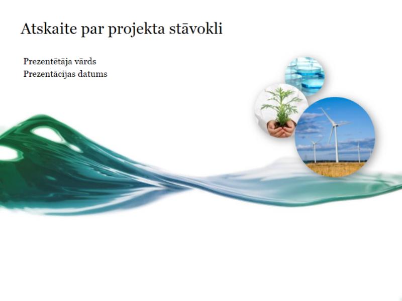 Projekta statusa atskaites prezentācija