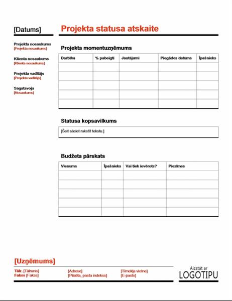 Projekta statuss (sarkans)