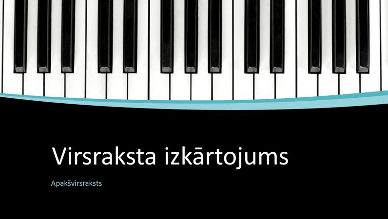 Prezentācija ar muzikālām līknēm (platekrāns)