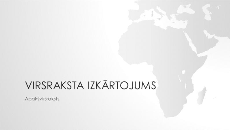 Pasaules karšu sērija: prezentācija ar Āfrikas kontinentu (platekrāns)