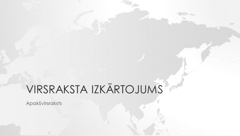 Pasaules karšu sērija: prezentācija ar Āzijas kontinenta motīvu (platekrāns)