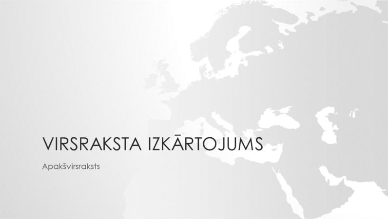 Pasaules karšu sērija: prezentācija ar Eiropas kontinenta motīvu (platekrāns)