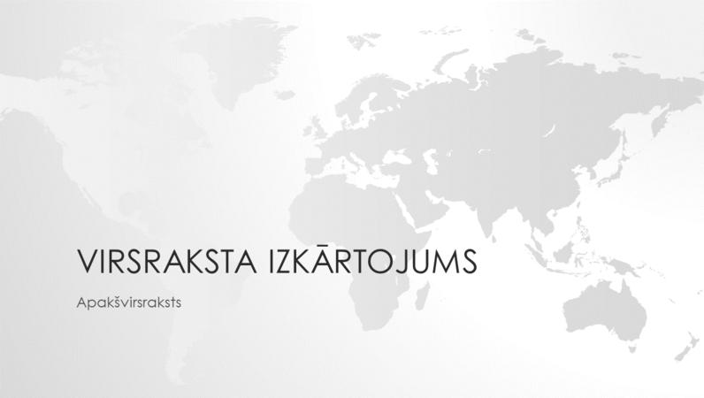 Pasaules karšu sērija: prezentācija ar pasaules karti (platekrāns)