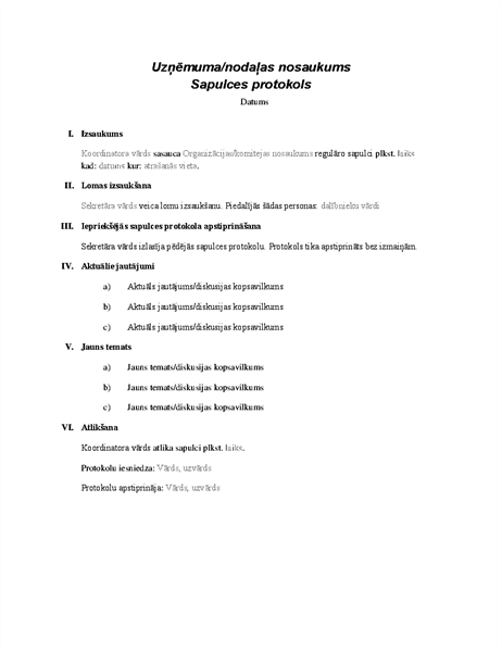 Formālas sapulces protokols