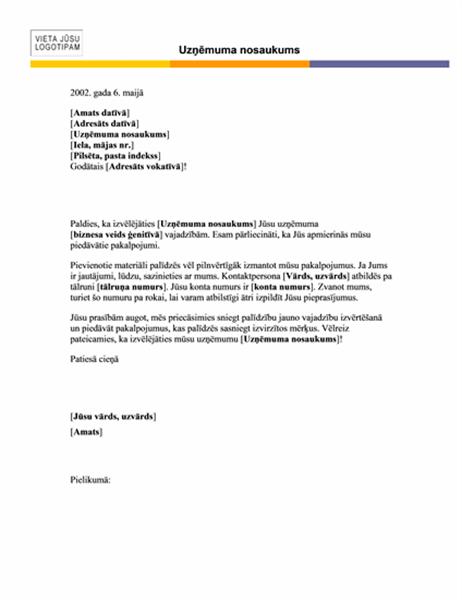 Vēstules galva (horizontāls dizains)