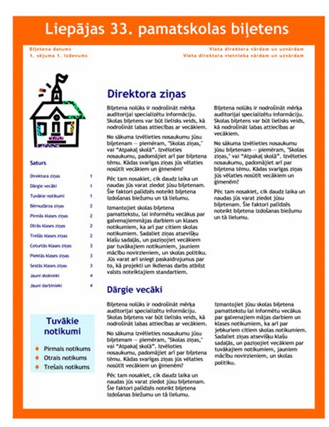 Skolas biļetens (3 kol., 4 lpp.)