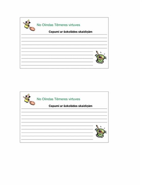 Recepšu kartiņas (personalizētas, 2/lpp.)