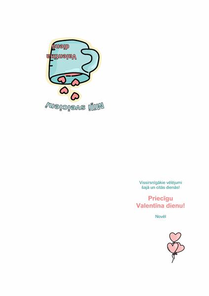 Valentīna dienas apsveikuma kartīte