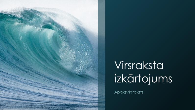Prezentācija ar okeāna viļņu noformējumu (platekrāna)