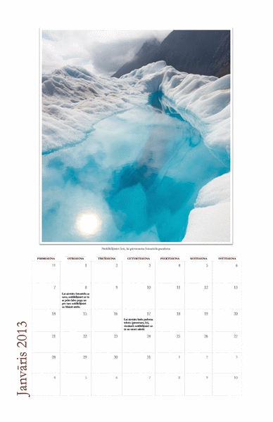 2013. gada mēnešu fotokalendārs (P–Sv)