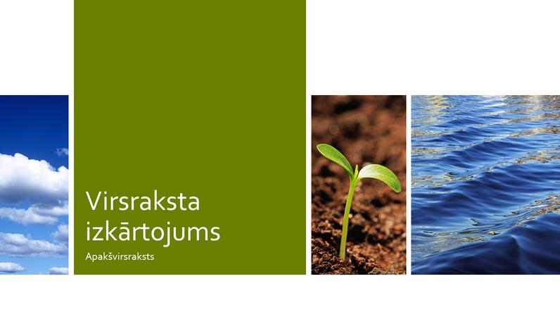 Dabas ekoloģijas izglītības fotoattēlu prezentācija