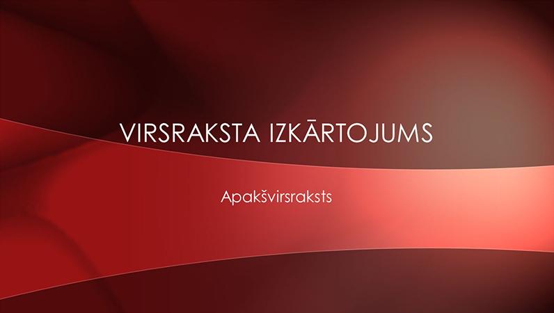 Koši sarkanas krāsas ainavas noformējuma slaidi