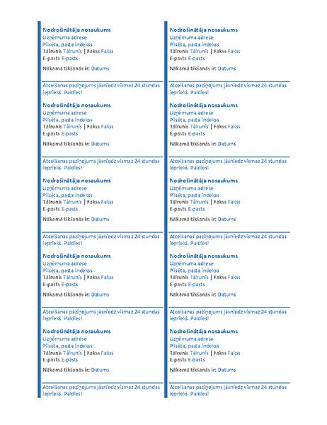 Tikšanās kartītes (10gab. vienā lapā)