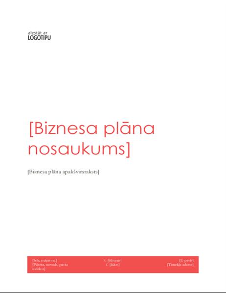 Biznesa plāns (sarkans noformējums)