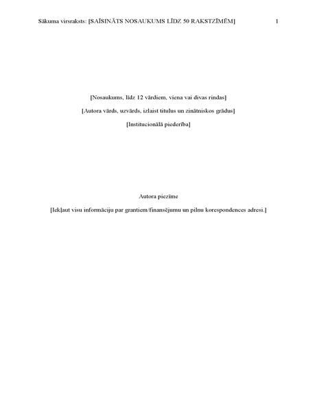 APA stila atskaite (6. izdevums)