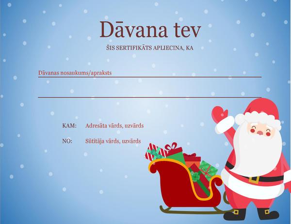 Ziemassvētku dāvanas sertifikāts (Ziemassvētku gara noformējums)