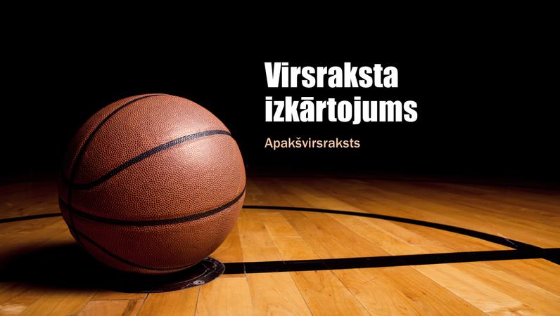 Prezentācija par basketbolu (platekrāna)