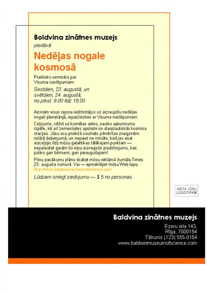 Reklāmas lapa (8,5x11, vienpusēja)