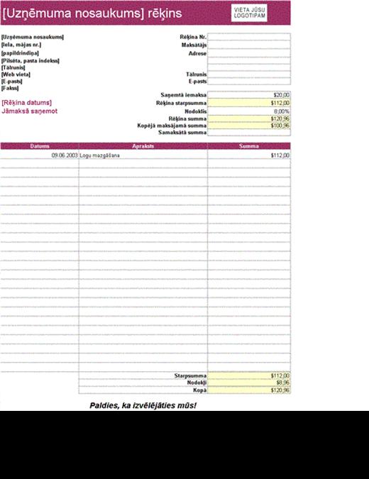 Rēķins par pakalpojumiem