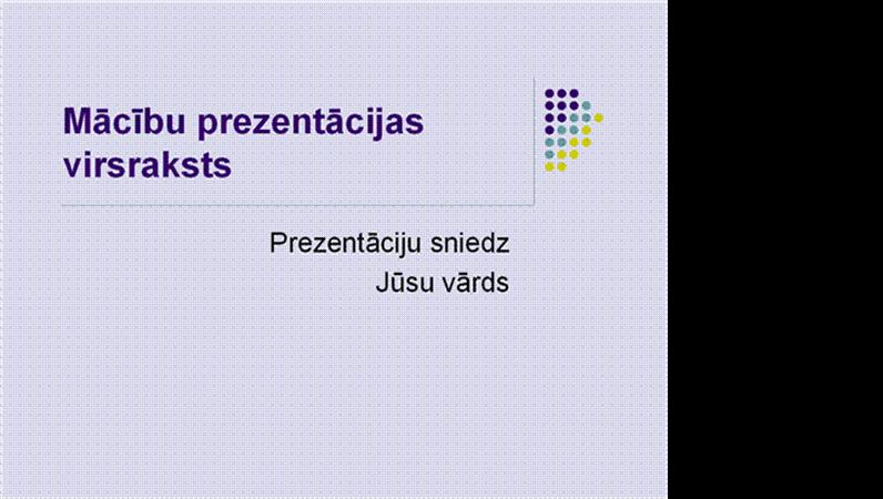 Mācību prezentācija