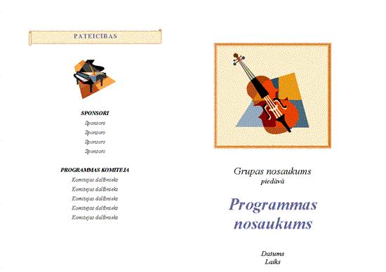 Muzikāla pasākuma programma