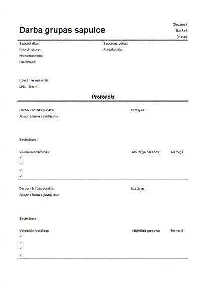 Neformālas sapulces protokols