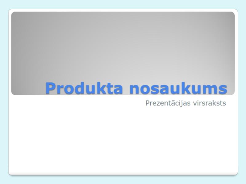 Produkta pārskata prezentācija