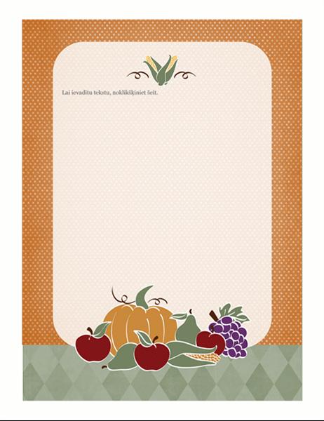 Vēstuļpapīrs (ražas noformējums)