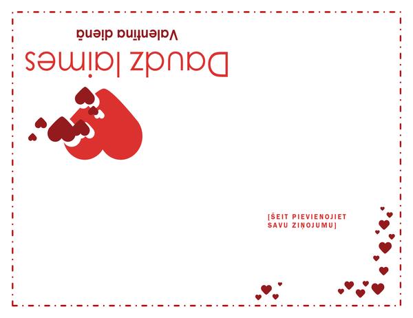 Valentīna dienas kartīte (divkāršs locījums)