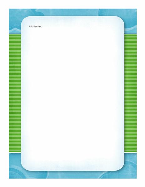 Vēstuļpapīrs (mākoņu dizains)