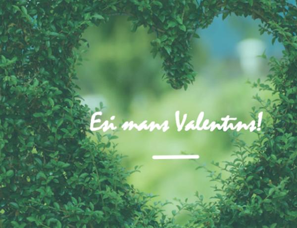 Valentīndienas kartīte (daļēji ielocīta)