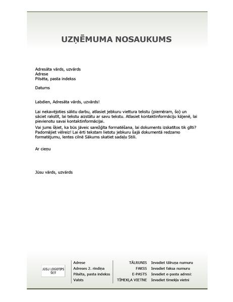 Biznesa iespiedveidlapas vēstuļpapīrs (vienkāršs noformējums)