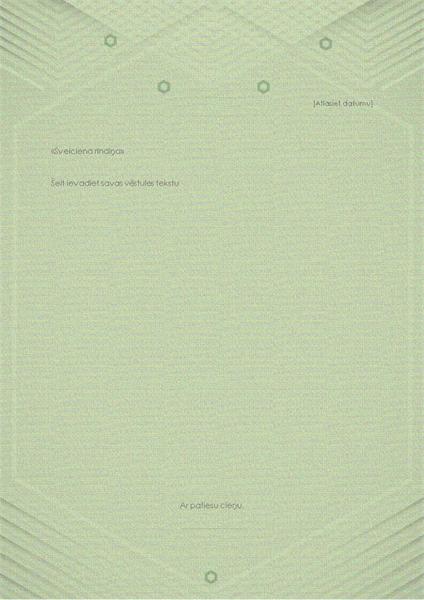 Veidne personiskām vēstulēm (elegants pelēkzaļš noformējums)