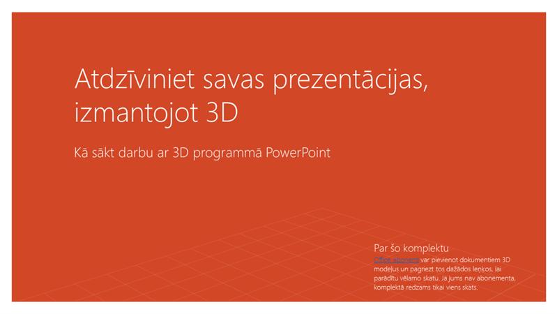Atdzīviniet savas prezentācijas, izmantojot 3D